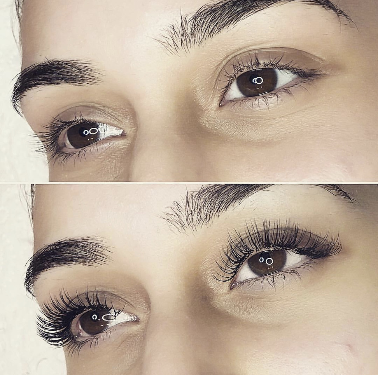Classic Full Set of eyelash extensions at beauty & bronze lash specialists